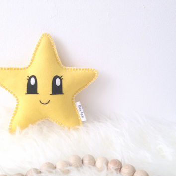 Star Softie, Star Pillow, Baby Shower Gift, Nursery decor, Star Nursery, cute baby gift, baby gift, baby decor, yellow nursery, nursery star