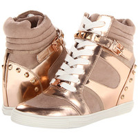 MICHAEL Michael Kors Kids Celia Wedge Sneaker Pyramid (Toddler/Little Kid/Big Kid) Rose Gold - Zappos.com Free Shipping BOTH Ways