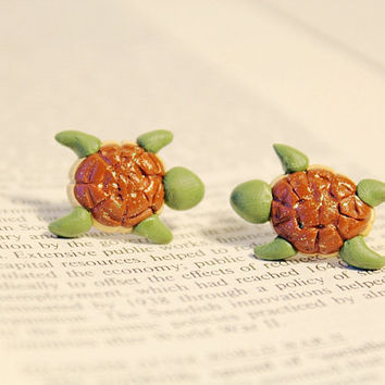 Turtle Under The Sea Earrings
