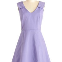 ModCloth Mid-length Sleeveless A-line Bouquet of Violets Dress