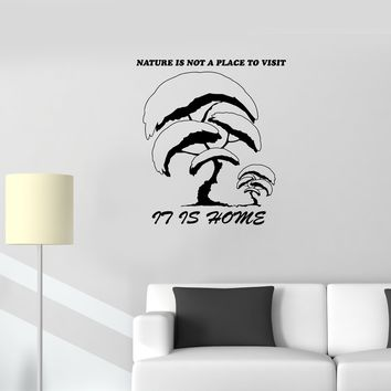 Wall Decal Tree Plants Nature Inscription Phrase Words Wise Vinyl Sticker (ed1146)