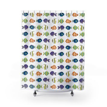 Tropical Fish Shower Curtains
