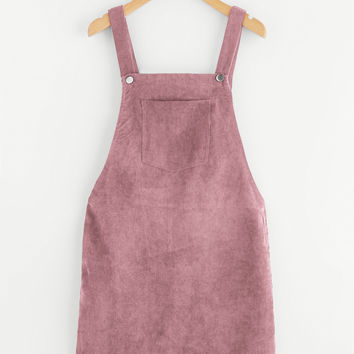 Bib Pocket Front Overall Dress -SheIn(Sheinside)