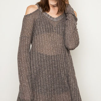 Hold Me Tight Luxe Sweater in mocha