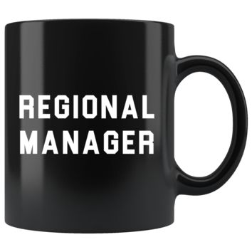 Regional Manager 11oz Black Mug