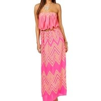 Pre-Order: Pink/Taupe Belted Maxi Dress