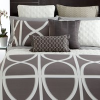 Hotel Collection Modern Transom Charcoal Bedding Collection