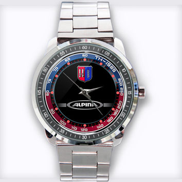 Bmw Alpina Logo Racing Custom Stainless Steel Watch