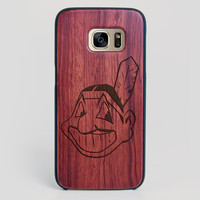 Cleveland Indians Galaxy S7 Edge Case - All Wood Everything