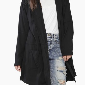 Black Long Light Coat