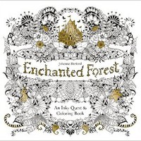 Enchanted Forest: An Inky Quest and Colouring Book Paperback – 2 Mar 2015