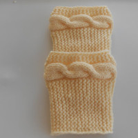 Lace cable Cream  Boot cuffs, Boot socks