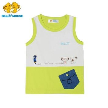 Bello Mouse Top Grade 2-8 years Boys' Summer Cartoon Vest Male Children Kids cotton lovely T-shirt Toddler Casual Cute Clothes