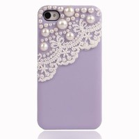 Lace with Pearl Case iPhone 4/4S