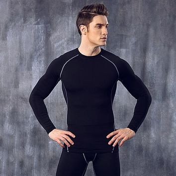 Tops + Pants Compression Men's Quick-Drying Long Johns Comfortable High Elastic Breathable Long Johns Sets Body Shapers HO807494