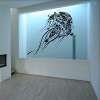 Abstract Jellyfish Vinyl Wall Decal - Extra Large Jellyfish 22085