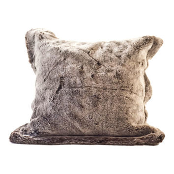 Posh Pelts Chinchilla Faux Fur Pillow Cover
