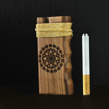 California Sea // Elephant Mandala Dugout One Hitter with Hemp wick