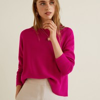 Back vent sweater - Women | MANGO United Kingdom