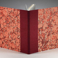 Guestbook Large Rose Marble