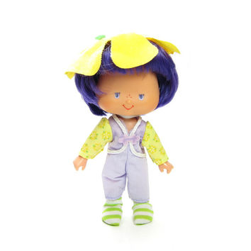 Almond Tea Doll Vintage Strawberry Shortcake Friend Toy with Purple Hair & Outfit