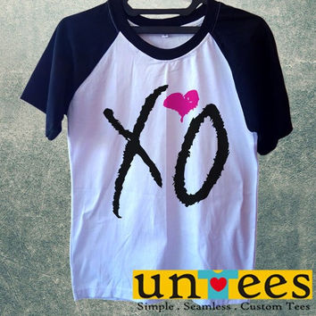 Men's Short Sleeve Raglan Baseball T-shirt - XO Drake Beyonce The Weekend Fresh Lil Wayne design