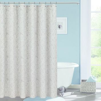 Soft Printed Shower Curtain Classic Gray - Threshold™