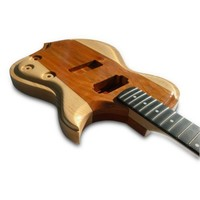 Handmade Electric Wood Guitar  Ash Mahogany by tauntongreen