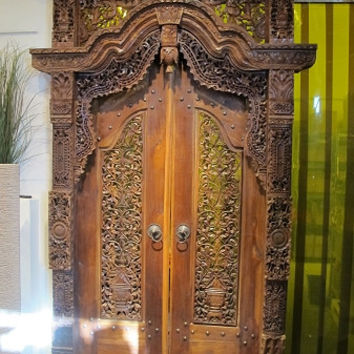 Handcarved Teak Wood Door