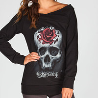 Sullen Skull Womens Sweatshirt Black  In Sizes