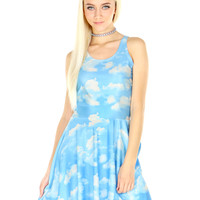 CLOUDS SKATER DRESS