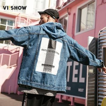 Trendy VIISHOW Denim Jacket Men Sportswear Outdoors Casual Fashion Jeans Jackets Cowboy Mens Jacket And Coat Plus Size 3XL JC1024181 AT_94_13