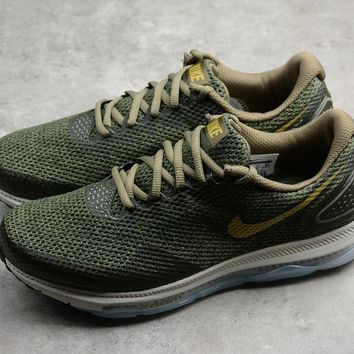 Nike Air Zoom All Out Low 2.0 Amry Green Running SHoes AJ0035-201