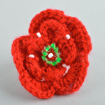 Handmade crochet hair scrunchy hair accessories crochet barrette gift for girl