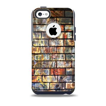The Neon Graffiti Brick Wall Skin for the iPhone 5c OtterBox Commuter Case