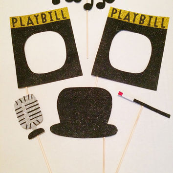Glittery Broadway Photo Booth Prop Set