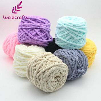 Lucia Crafts 1roll/lot Weaving Thread Yarn Soft Milk Cotton Woven Gloves Scarf Hat Sweater DIY Hand-knitted Material 033005034