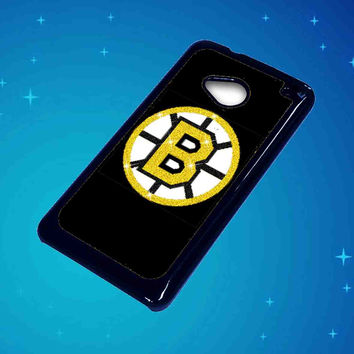 Boston Bruins Glitter For HTC One M7 Case ***