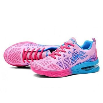 Colorful Mesh Breathable Platform Casual Trainers