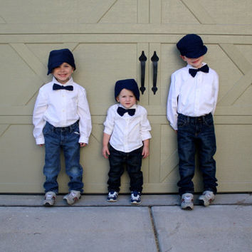 Boys Bow Tie and Matching Hat, Many Colors Available!