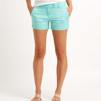 Whale Embroidered Dayboat Shorts