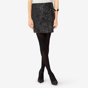 Kate Spade Saturday Vented Mini Skirt In Deer Dot Calf Hair