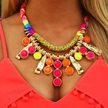 Show Your Bright Side Necklace: Multi
