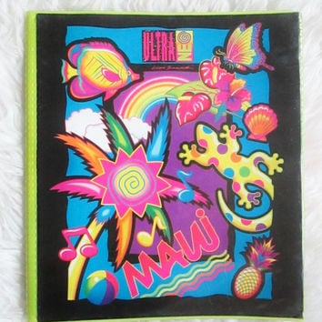 Vintage 1990s Lisa Frank Maui Ultra One Trapper Keeper Binder