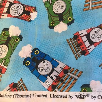 VIP Cranston - Thomas the Train - Thomas Toss - Cotton Fabric 1/2 yd