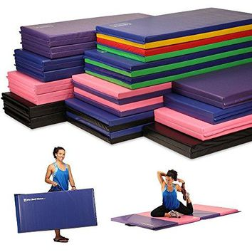 Portable Folding Exercise Gymnastics Mats great for any workout.  With Handles