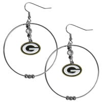 Green Bay Packers 2 Inch Hoop Earrings FHE115