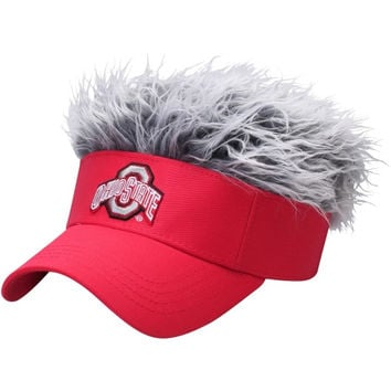Ohio State Buckeyes Flair Hair Visor
