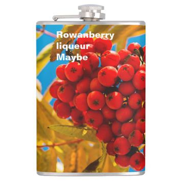 Rowan-berry funny customizable flask