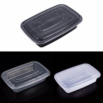 Disposable Microwave Plastic Food Storage Container Safe Meal Prep Containers For Home Kitchen Fruits Food Storage Box